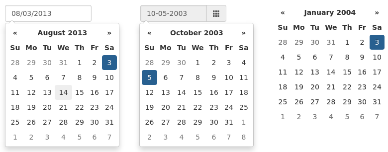 Bootstrap Datepicker Bootstrap Datepicker Documentation